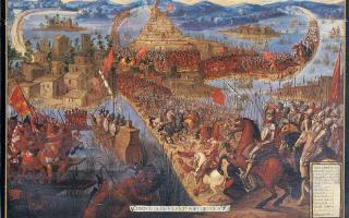 The Conquest_of Tenochtitlan by Cortes
