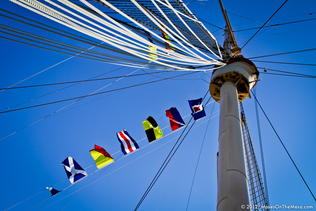 Queen Mary flags